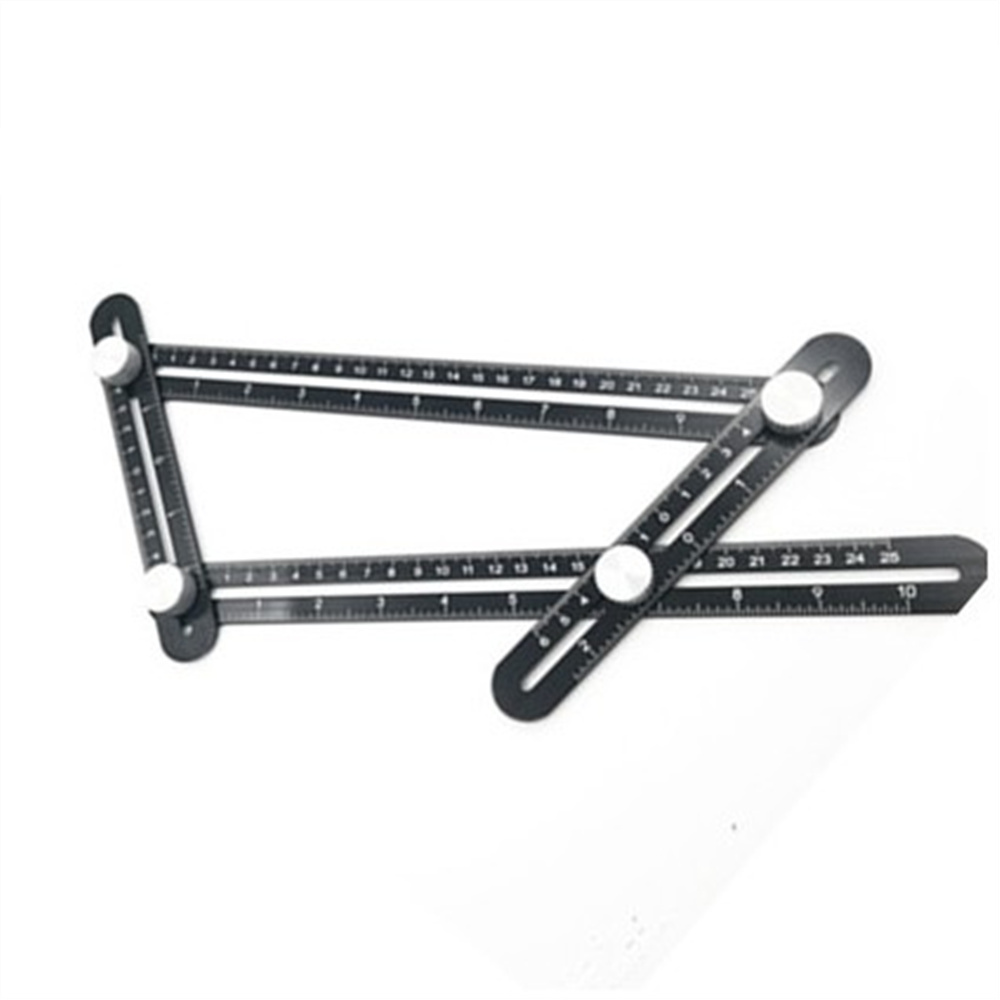 Universal Angularizer Ruler Multi Angle Measuring Tool Ultimate Black Template Aluminium alloy 300mm multifunctional combination square ruler stainless steel horizontal removable square ruler angle square tools metal ruler