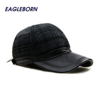 2016 Winter Warm Earflaps Baseball Caps Casual Outdoor Sports Polo Hat Snapback Caps Wool Stay Warm
