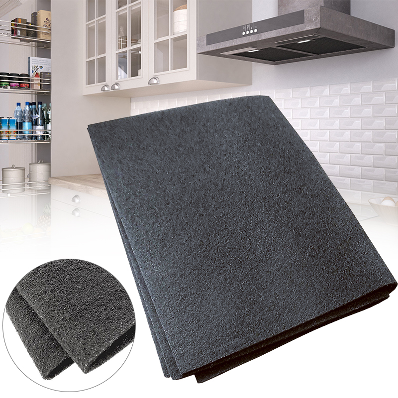 57X47cm Black Cooker Hood Extractor Activated Carbon Filter Cotton For Smoke Exhaust Ventilator Home Kitchen Range Hood Parts