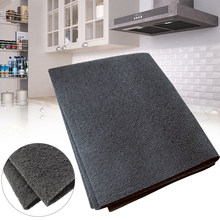 57X47cm Black Cooker Hood Extractor Activated Carbon Filter Cotton For Smoke Exhaust Ventilator Home Kitchen Range Hood Parts(China)