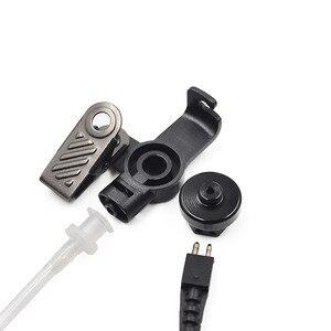 Image 3 - XQF Police Air Tube Earpiece Microphone PTT Headset For Motorola Two Way Radio Walkie Talkie DP4400 DP4401 DP4600 DP4800 DP4801