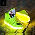Moda niños niñas sneaker niños luminosos entrenador de tenis intermitente niños llevó la iluminación del niño casual zapatos niños botas