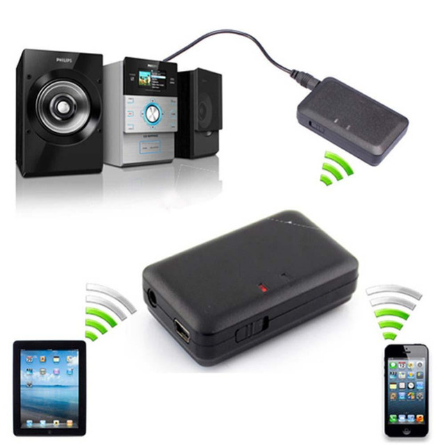 Portable Bluetooth Music Receiver A2DP Audio Music Wireless Receiver Home Car AUX Adapter for iPhone 6 7 Android Laptop PC