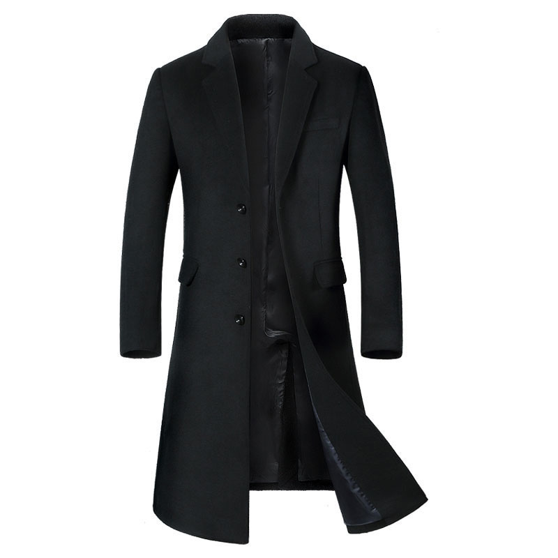 New Men's Wool Long Coat Winter Brand Fashion High Quality Plus Size Wool Parka Coat For Men Overcoat Casaco Masculino By1810