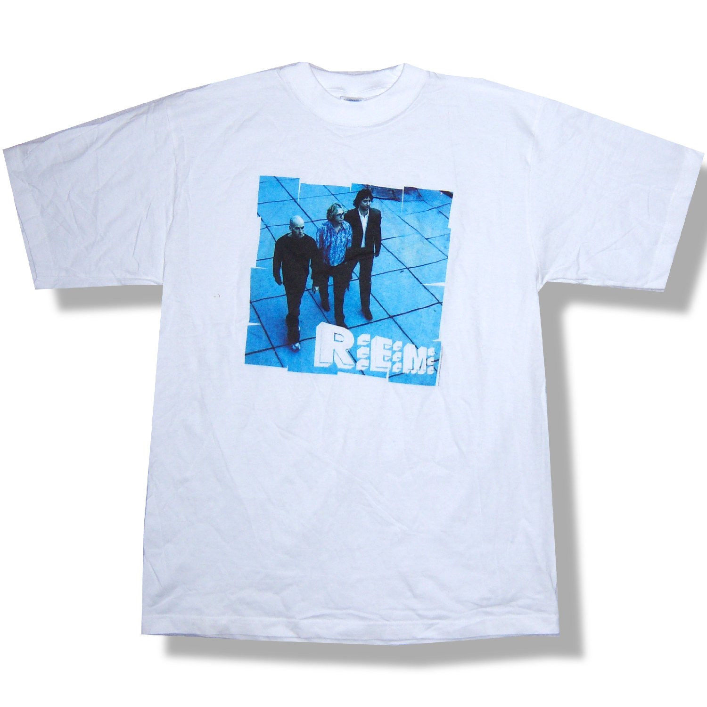 REM R.E.M. TILES BAND IMAGE UP ERA 1999 WHITE T-SHIRT XL NEW OFFICIAL NOS Sleeve T Shirt Summer Men Tee Tops Clothing