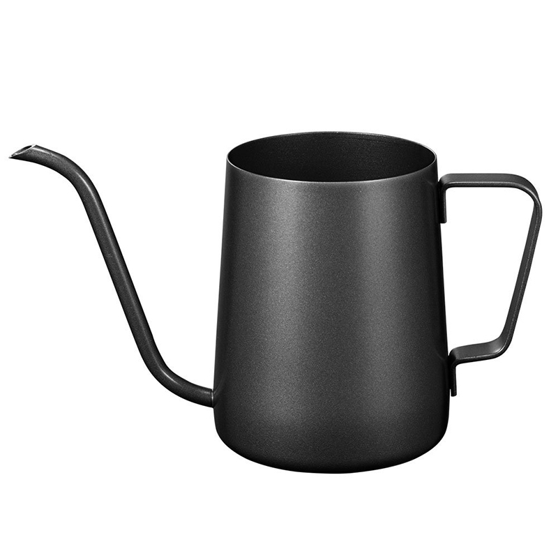 Pour Over Drip Coffee Pot, Stainless Steel Long Narrow Gooseneck Spout Coffee Kettle, Matte Black, 350ml/ 12Oz