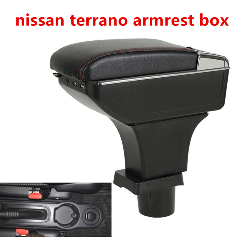 For Nissan Terrano Armrest Box Central Store Content Box With Cup Holder Ashtray USB Interface Generic Model 2018