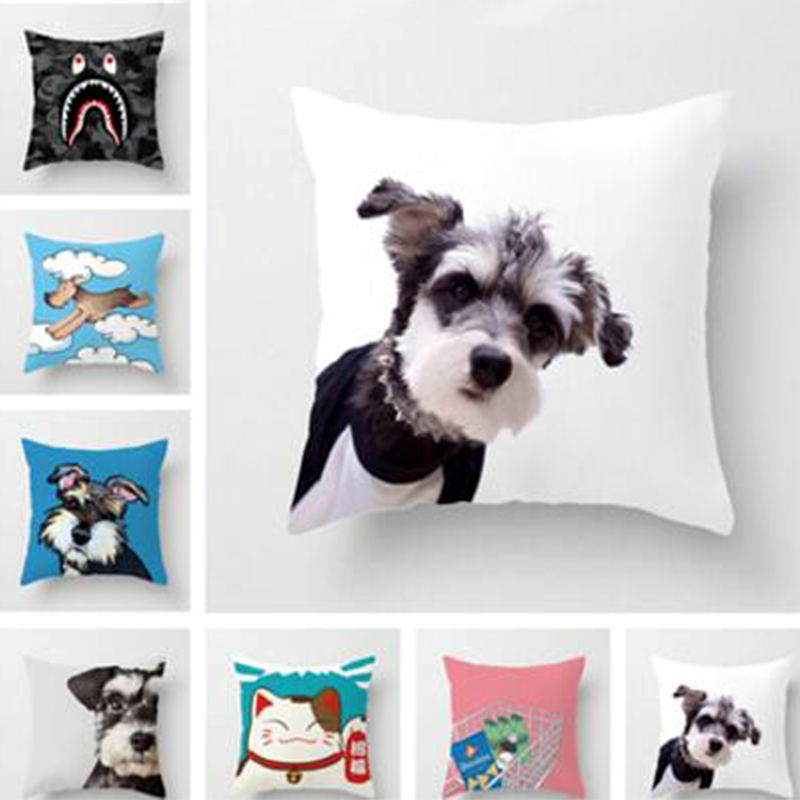 Cartoon Dog Sofa Cushion Covers Pillow Case Cute Covers for Offices Room Couch Seat Cushion Case Home Decoration Mother Gifts