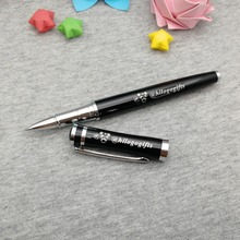 Silver clip rollerball pen with cute cap unique company anniversary giveaways custom engrave free your logo