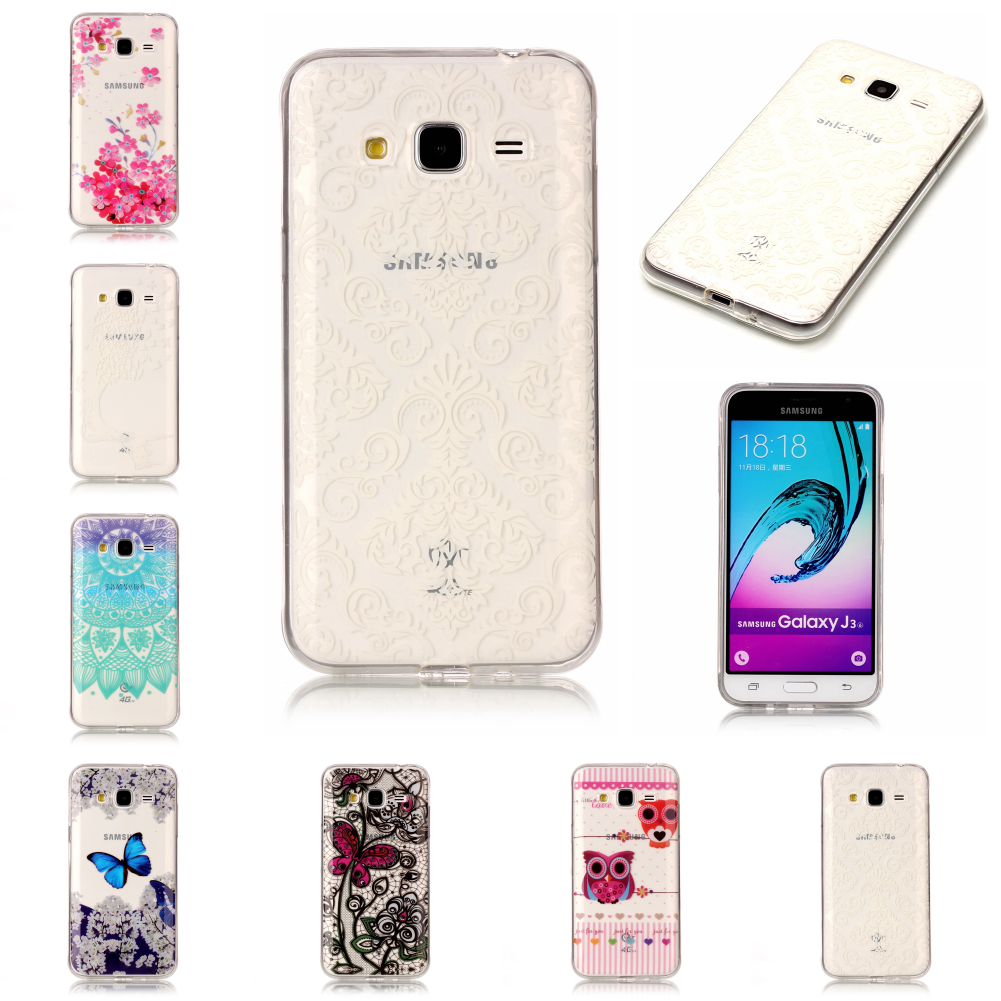 For Sumsung Samsug Galaxy J3 2016 Pretty Cheap New Thin Soft Transparent Ultra TPU Etui Carcasa Phone Mobile Cover Fundas