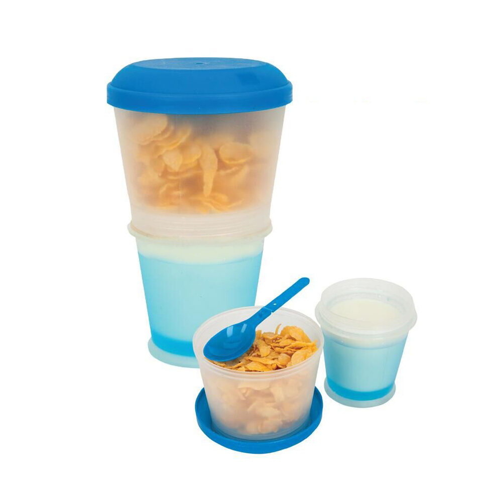 17OZ Cereal To Go Plastic Snack Cup With Lid Foldable