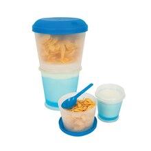 Cereales Para Ir De Plástico Merienda Taza de 17 OZ con Tapa Plegable Cuchara Gel mantenga La Leche Fría 2 Capas Copos De Maíz Alimentos Contenedor bpa HK071