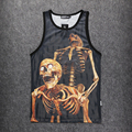 New Fashion 3d Hot  MenTops mesh vest HipHop three-dimensional pattern men's casual Tank Tops