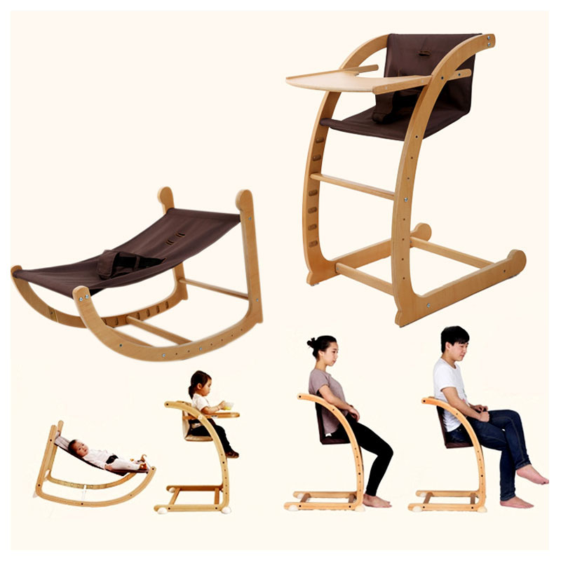 Multifunctional Baby Rocking Chair Dining Chair Highchair