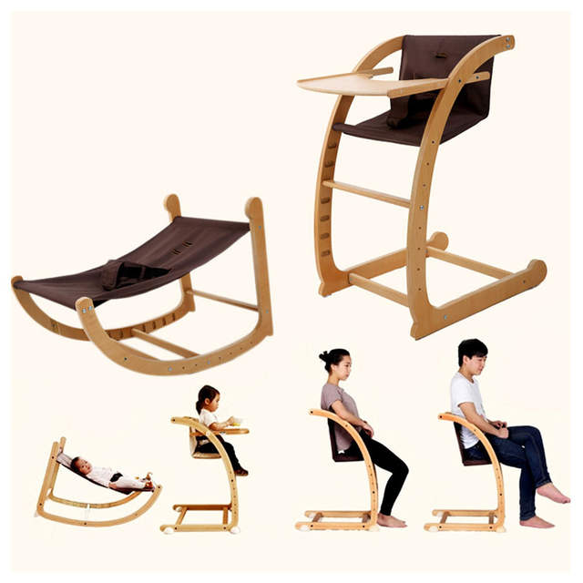 Brilliant Multifunctional Baby Rocking Chair Dining Chair Highchair Seat Children Eating Chair Wood Kids Dining Table And Booster Chair Andrewgaddart Wooden Chair Designs For Living Room Andrewgaddartcom