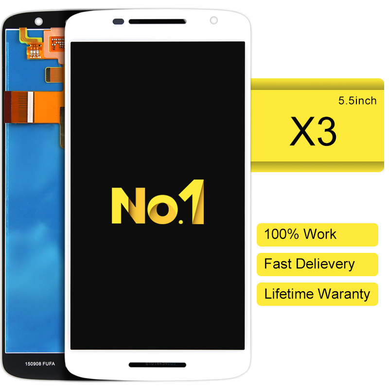 DHL 10pcs 100% Test 5.5 LCD Screen Display For Motorola For MOTO X Play X3 XT1562 with Touch Screen Digitizer Assembly