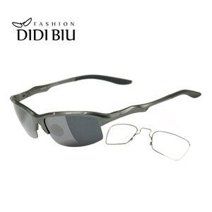 Image 2 - Spolaryzowane aluminiowe męskie okulary przeciwsłoneczne okulary wojskowe Clip On dostosuj krótkowzroczność okulary korekcyjne jazdy okulary przeciwsłoneczne HN1042