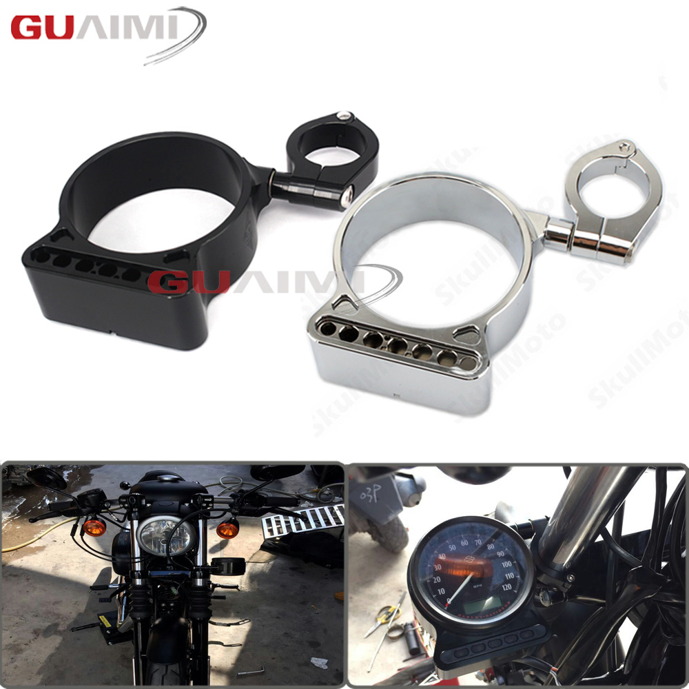 Motorcycle 39mm/16 CNC Side Mount Speedo Relocation Bracket For Harley Davidson Sportster XL883 XL1200 1995-2016 XL 883 1200 skull motocycle cnc derby timing timer cover engine for harley xl xr sportster 883 1200 xl xl883 xl1200 forty eight seventy two