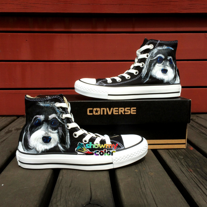 d13db80a4755 ... australia converse chuck taylor boys girls shoes pet dog chrysanthemum  original design hand painted sneakers men