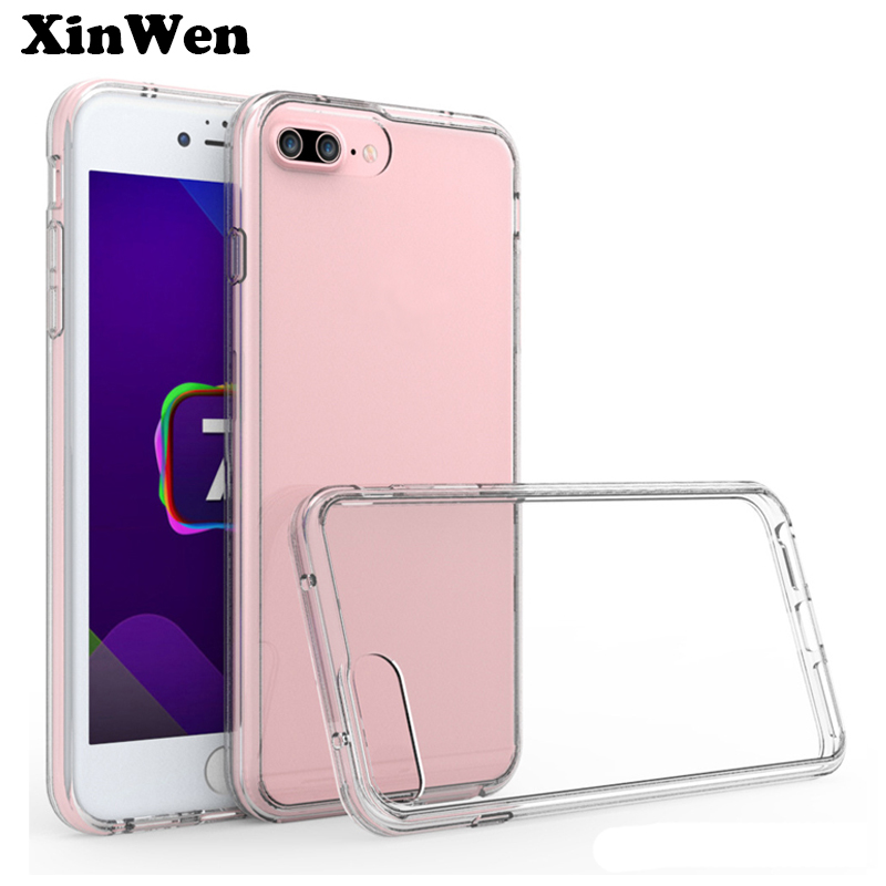 XinWen luxury cover coque case for iphone 7 plus for apple iphone7plus silicone silicon original tpu transparent phone cases