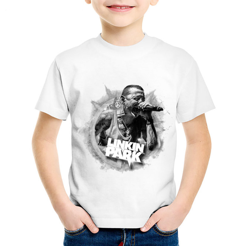 Fashion Print Linkin Park Chester Bennington 1976-2017 Children T-shirts Kids Summer Tees Boys/girls Tops Baby Clothing,ooo012 Boys' Clothing