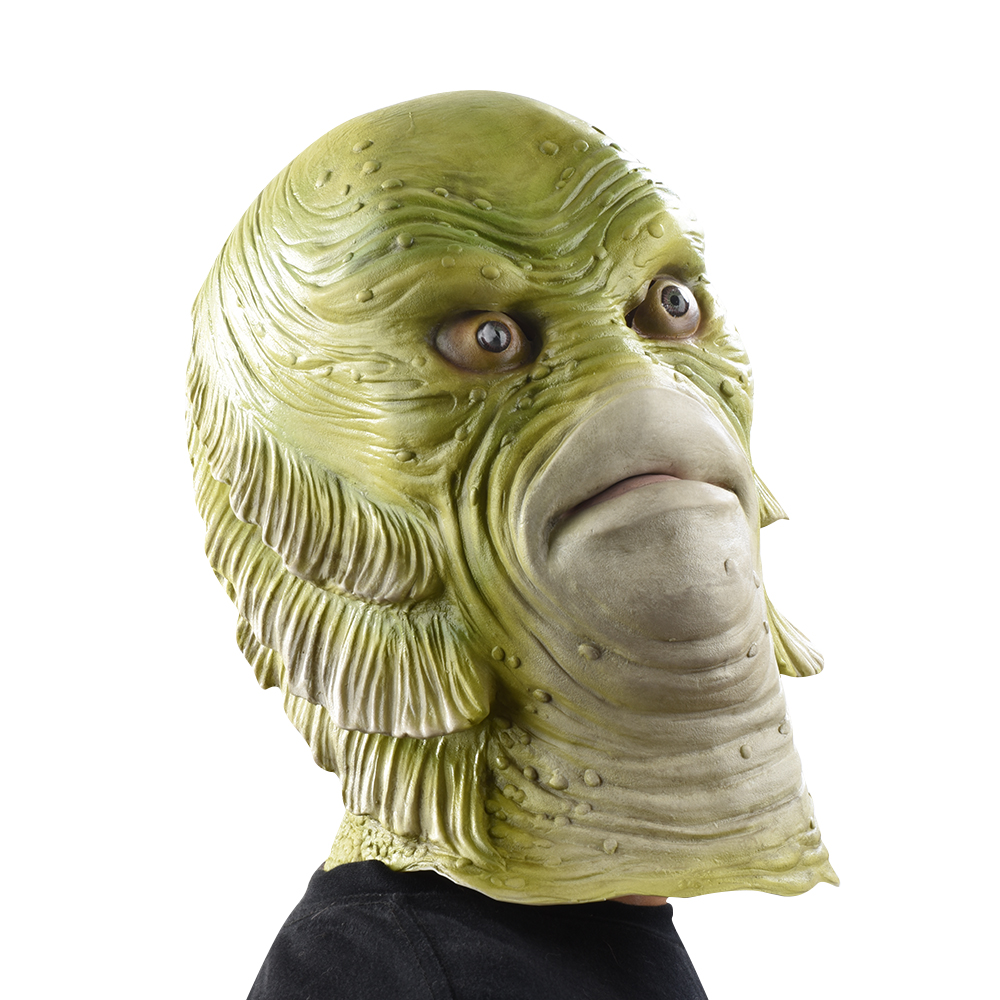 Scary Monster Latex Fish Mask Creature from the Black Lagoon ...