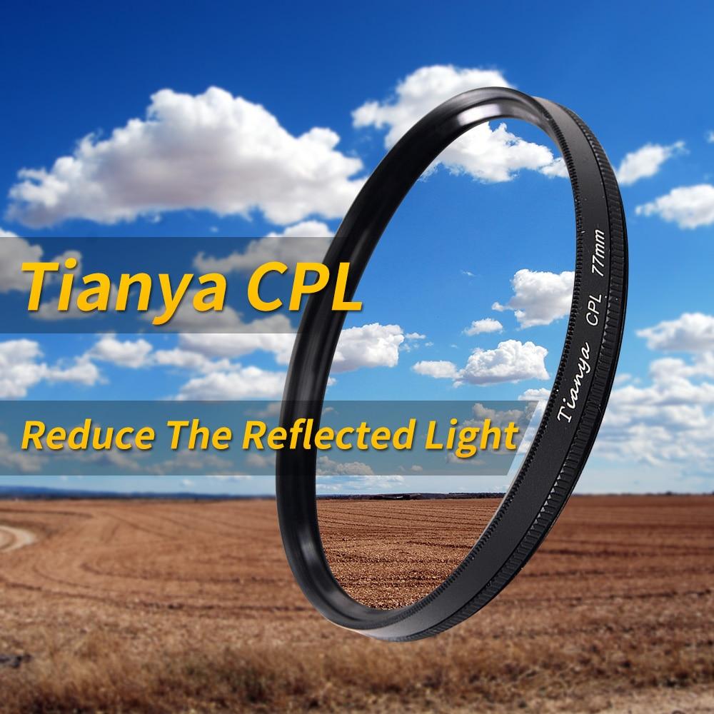 Tianya CPL 67 filtro 77mm cpl polarizzatore Circolare c-polarizzatore 37 40.5 43 49 52 55 58 62 72 82mm occhiali da sole c-filtro polarizzato