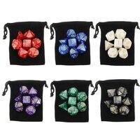 Hot Sale 42pcs 6 Colors Game Polyhedral Digital Dice 4D 6D 8D 10D 12D 20D Acrylic