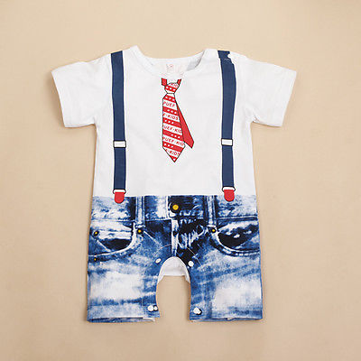 Hot Baby Boys Kids Newborn Infant Overalls Romper Shorts Bodysuit Outfit Clothing