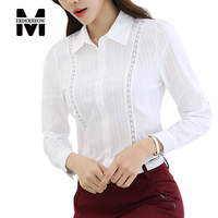 Merderheow New 2017 Spring Fashion Korean Style Women High Quality All Matched Office Femme Blouse Long