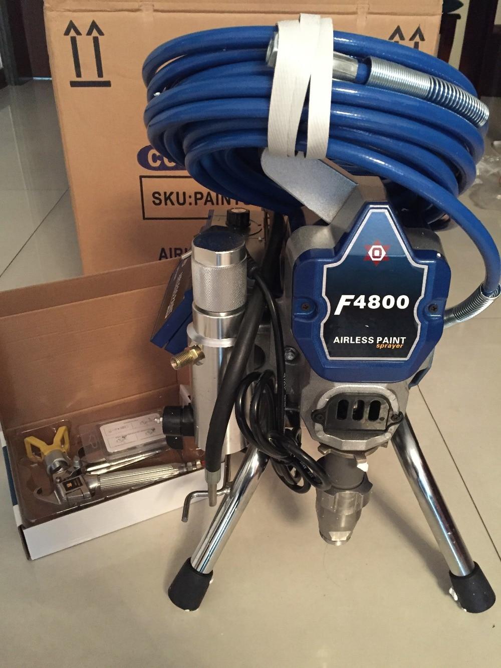Pompa a pistone airless per verniciatura a spruzzo airless F4800 macchina per verniciatura pesante con pistola a spruzzo e tubo flessibile di pressione