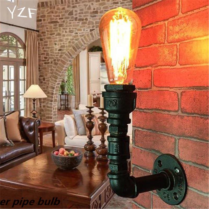 ФОТО YZF Retro industrial wind bar coffee shop creative American restaurant iron staircase wall lamp decorative water pipe wall lamp