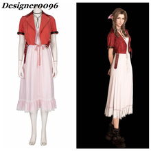 Anime Cosplay Costume Hot Game Movie COS Aerith Gainsborough Halloween Christmas Adult Clothes dress Alice