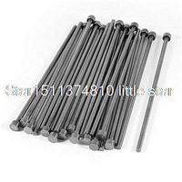 4mm Tip 8mm Shank Diameter Steel Straight Ejector Pin Machinist 25Pcs