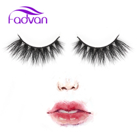 Fadvan Lashes 3D Mink Eyelashes 1 Pair Real Mink Fur False Eyelashes 100 Handmade With High
