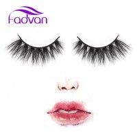 Fadvan Lashes 3D Mink Eyelashes 1 Pair Real Mink Fur False Eyelashes 100 Handmade With High