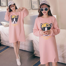 Korean version of the maternity sweater 2017 autumn and winter large size thick jacket in the long coat