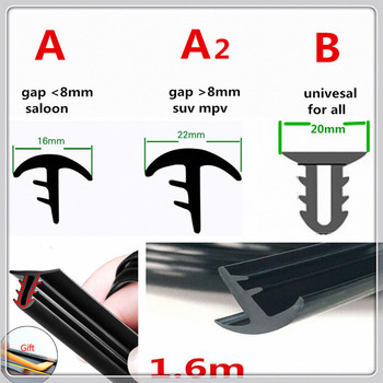 Car Rubber 1.6m Soundproof Dustproof Sealing Strip Dashboard for BMW 335is Scooter Gran 760Li 320d 135i E60 E36 F30 F30 image
