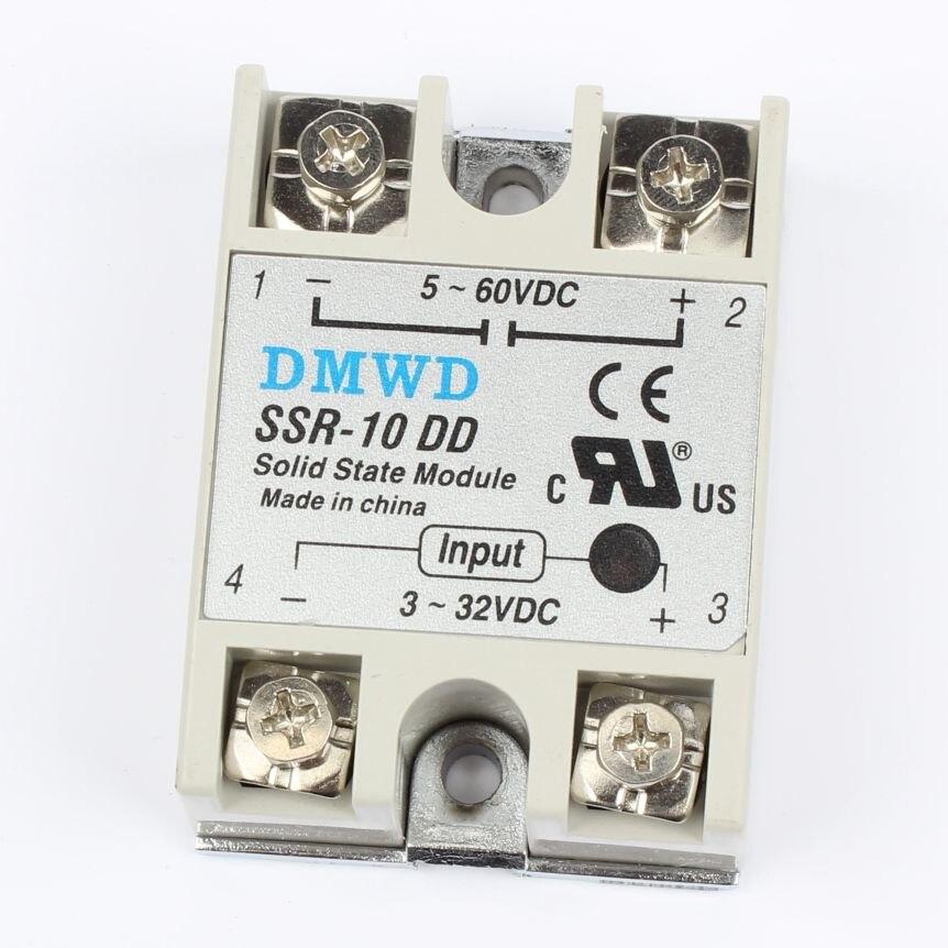 TOP BRAND DMWD solid state relay SSR-10DD SSR-25DD SSR-40DD SSR-50DD actually 3-32 DC TO 5-60 DC SSR relay solid state normally open single phase solid state relay ssr mgr 1 d48120 120a control dc ac 24 480v