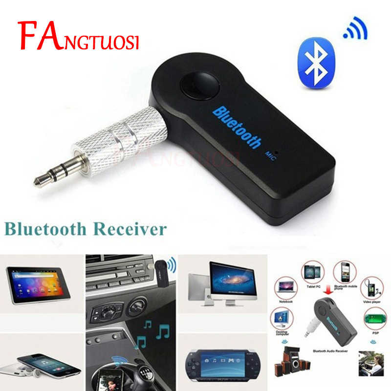 FANGTUOSI Wireless Bluetooth Receiver Aux 3.5mm Jack Audio MP3 Music Reciever Handsfree Car Transmitter Adapter For iPhone XR