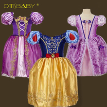 Hot Girls Cinderella Princess Dress Children Girl Sofia Party Wedding Dresses Kids Elsa Anna Clothes Snow White Cosplay Costume kids girls halloween christmas party dresses snow white anna elsa minnie princess tutu dress children dance cosplay cute costume