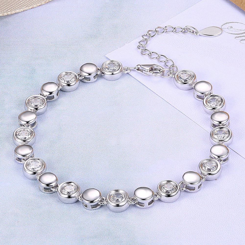zircon bracelet shape bindbin crystal silver image products heart product color
