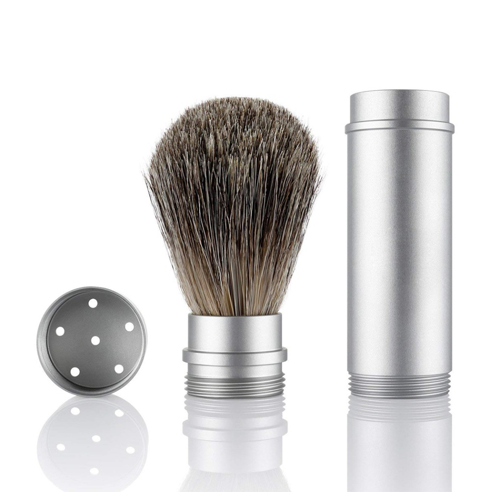 Pure Badger Hair Shaving Brush For Man Shaving Razor Barber Soap & Cream Travel Portable Brushes
