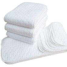 1 шт., 2 слоя, мягкие, дышащие, для малышей, хлопок, современная ткань, пеленки, подгузники, вкладыши, вставка обеспечивает двойную водопоглощающую способность