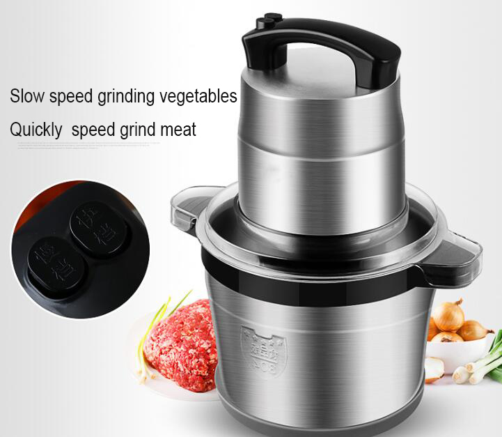 6L Stainless Steel Meat Grinder Chopper Automatic Electric Mincing font b Machine b font High quality
