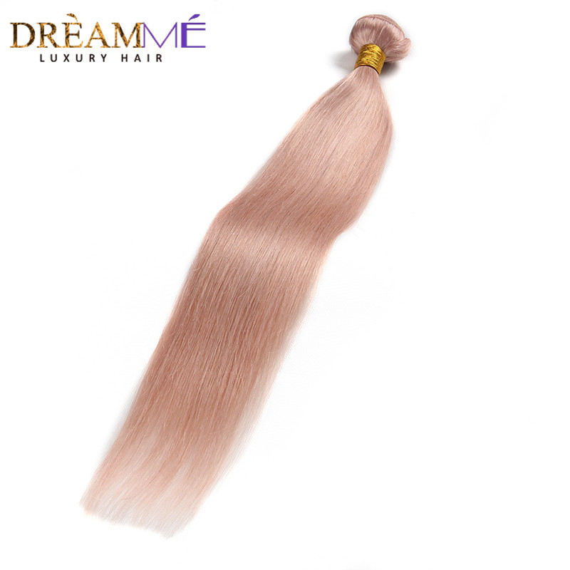 Dreaming Queen Hair Solid Pink Ombre Brasilian Straight Human Hair - Menneskehår (sort) - Foto 3