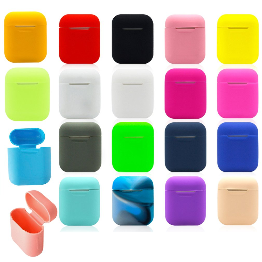 Soft Silicone Case Earphones for <font><b>Apple</b></font> <font><b>Airpods</b></font> case Bluetooth Wireless Earphone Protective Cover Box for Air Pods Ear Pods Bag image