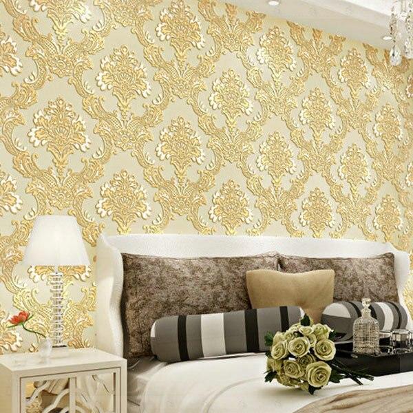 2014 European 3 d non woven wallpaper royal embossed wallpaper four ...