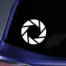 Bargain Max Decals - (2X Pack Aperture Science Portal Sticker Decal Notebook Car Laptop 3 (White)