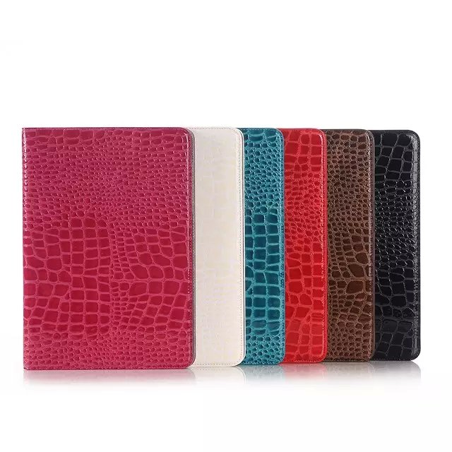 Luxury Crocodile Pattern Leather Case for Samsung Galaxy Tab A 9.7 T550 T555 case for Samsung Tab A P550 P555 + Stylus + Film) metal ring holder combo phone bag luxury shockproof case for samsung galaxy note 8